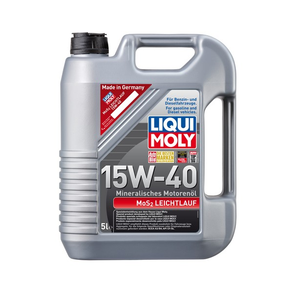 produto liqui moly mos2 leichtlauf 15w 40 5l shoparts. Black Bedroom Furniture Sets. Home Design Ideas